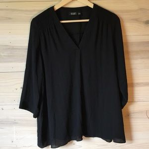 A.N.A | Tunic | 3/4 Sleeve | Black | PL petite